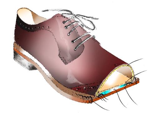 Parti di una scarpa